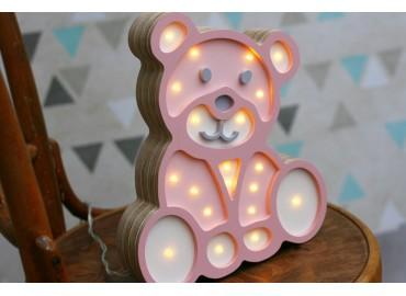 Lampa led MIŚ pink